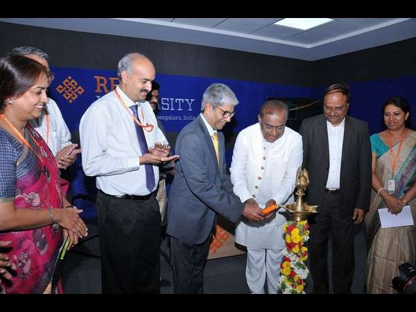 Music director Hamsalekha inaugurating new Media Center at Reva University