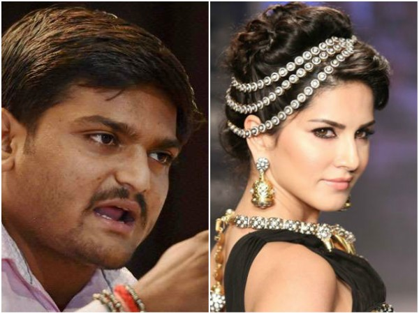 Why can not we look at Sunny Leone the way we look at Sridevi or Madhuri Dixit asks Hardik Patel