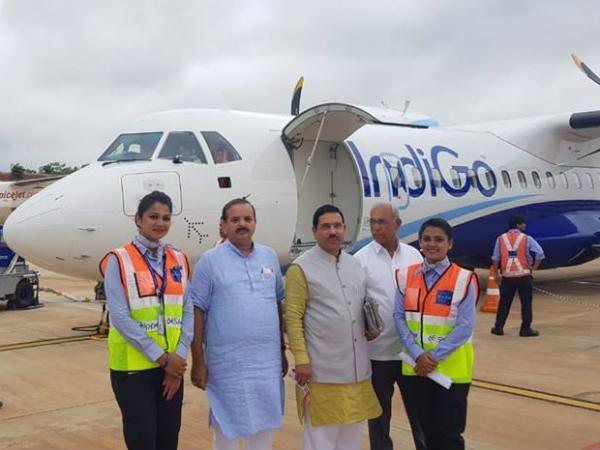 Indigo Airlines Begins Flight Service To Goa From Hubballi