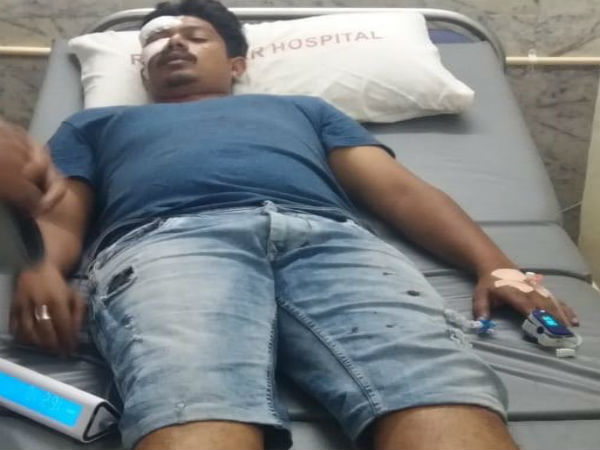 BJP party worker attacked by miscreants in Jayangar