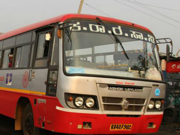 KSRTC bus rushed into petrol bunk at Yashwanthpur