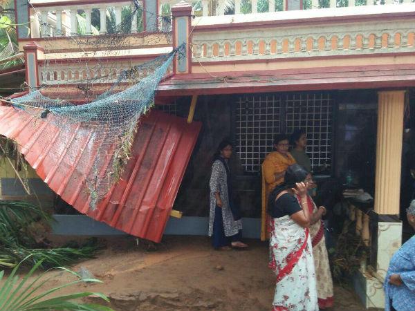 ಮಂಗಳೂರು: ತಡೆಗೋಡೆ ಕುಸಿದು ದೊಡ್ಡಿಕಟ್ಟ ಪ್ರದೇಶದಲ್ಲಿ ಅವಾಂತರ ಸೃಷ್ಟಿ