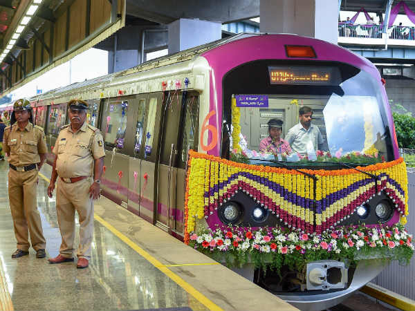 BMRCL extends six coaches metro service to two hour