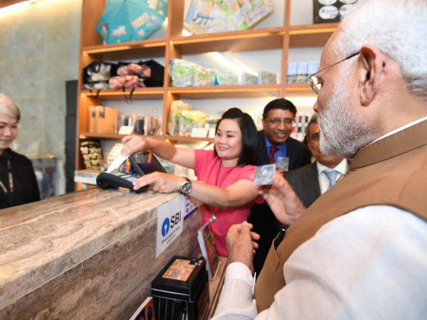 Narendra Modi purchased paiting using RuPay card in Singapore