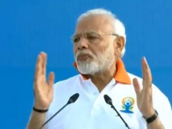 Pm Modi Leads International Yoga Day Celebration At Dehradun
