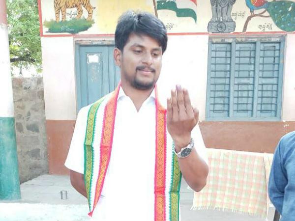 Sandeep Nayak Has Won The By Election In Kyadigere Zilla Panchayat Constituency