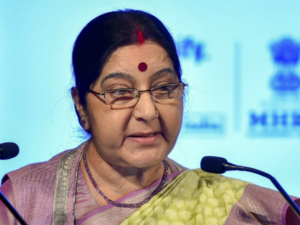 Marriage certificate not required for passports: Sushma Swaraj