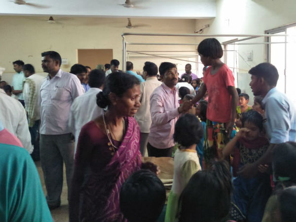 Around 60 students have been ill for eating Akshara dasoha food.