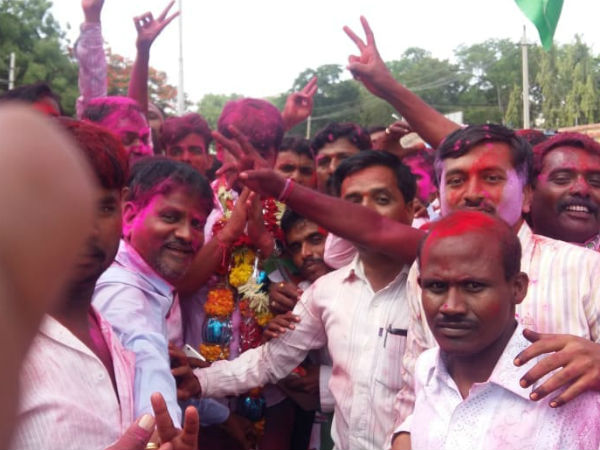 Sandeep Nayak has won the by-election in kyadigere zilla panchayat constituency.