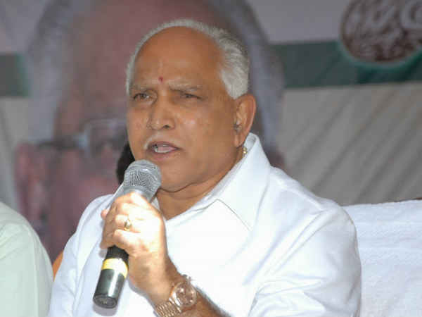BS Yeddyurappa two times called CM Siddaramaiah at an event