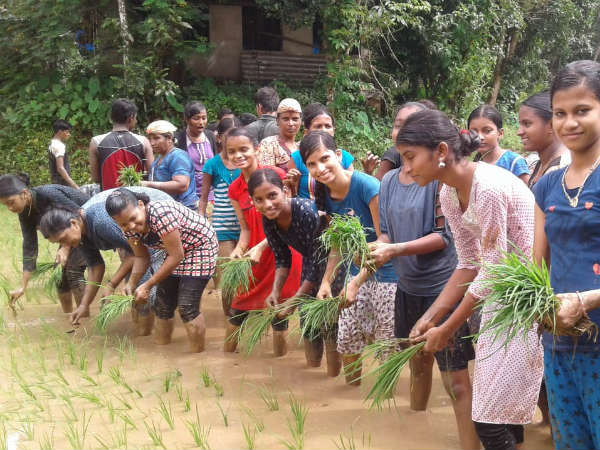 Students Were Learned About Agriculture In Nittur