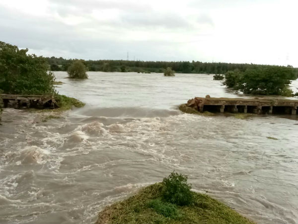 Wesley Bridge Washed Away In Cauvery Turbulence