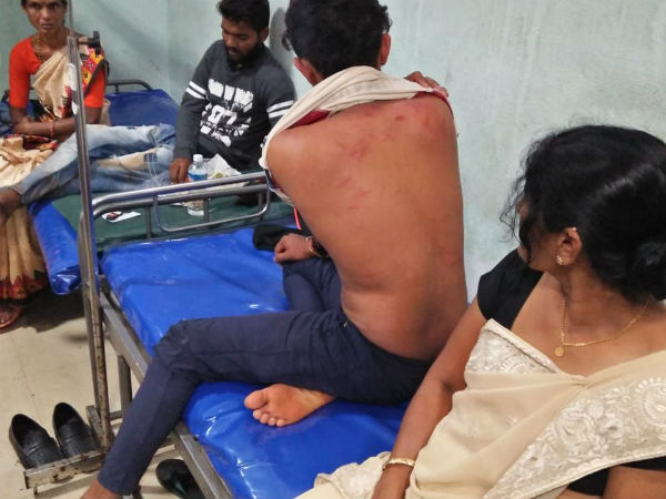 Kuruvalli boys attacked on Tunga college students in Thirthahalli
