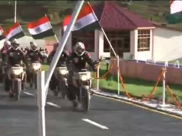 Bengaluru Army bases team went Kargil in bike to pay homage to Soldiers