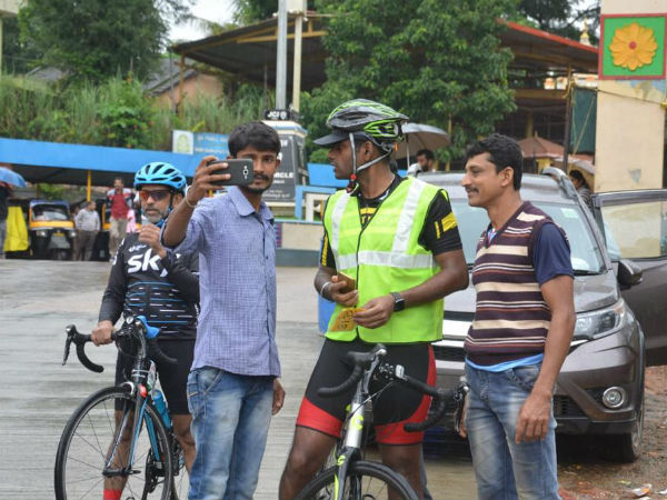 SP Annamalai on cycle shows a thingam about fitness to youth