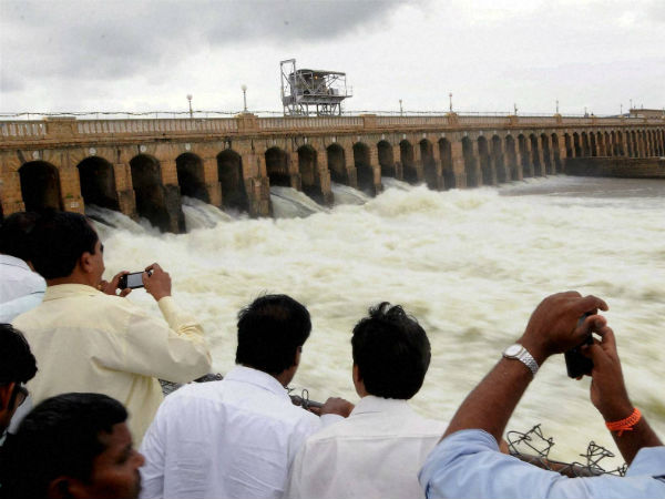 Rains push up KRS level to 112 feet