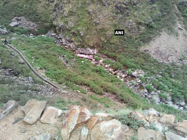 42 dead after a bus fell down a gorge in Pauri Garhwal district of Uttarakhand