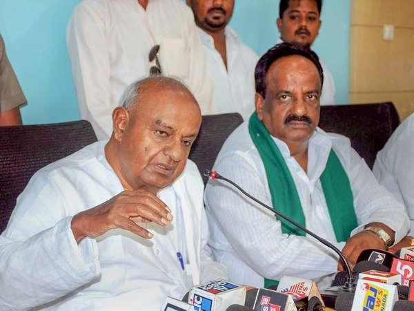 Deve Gowda Suddenly Visited Jds Leader Basavraj Horatti House