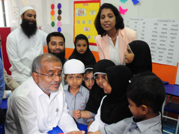 Higher Education Minister G T Devegowda Inaugurated Arafah Tinytots school at H.B.R layout.