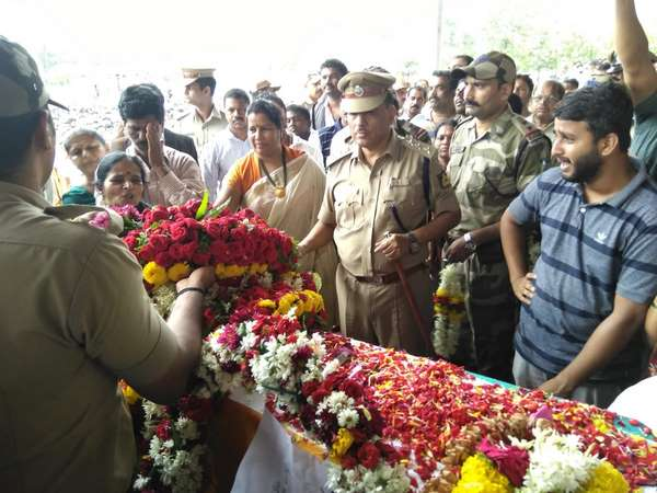 Vijayananda Suresh Nayak (29) was cremated with all government honors