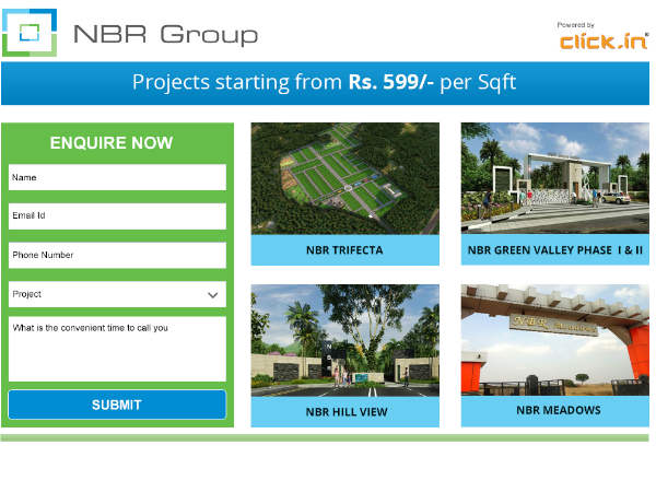 NBR Developers - Projects starting from Rs. 599 Per Sqft