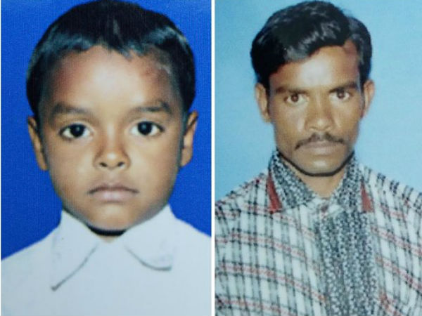 Father and Son have washed away in the Tungabhadra river flood