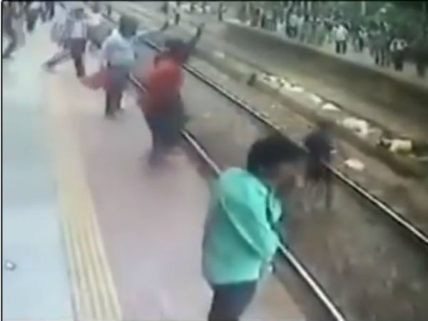 Viral video: Mumbai man attempting to commit suicide on railway track, saved