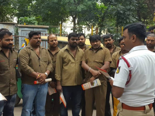 Road safety awareness programme conducted for Auto drivers, students