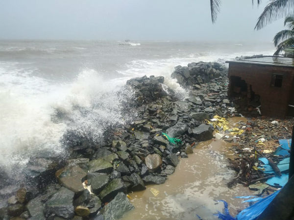 Sea erosion: 8 houses damage in Ulalla