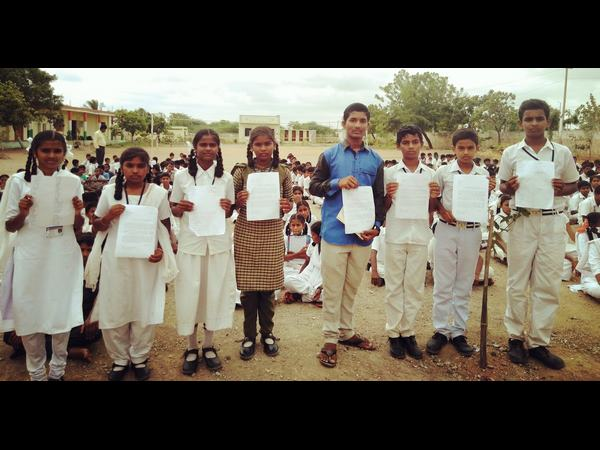 Students of Karur village have written a letter to the PM