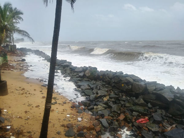 Sea erosion Ullala , another 20 families shifted safe place