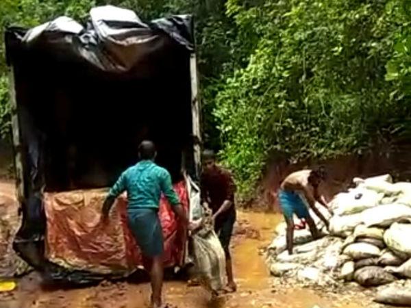 Waste From Kerala Dumped In Puttur