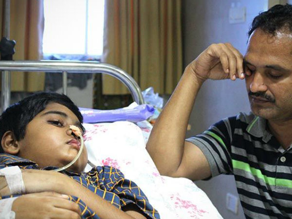 Eight-year-old is suffering from severe brain tumour, help him
