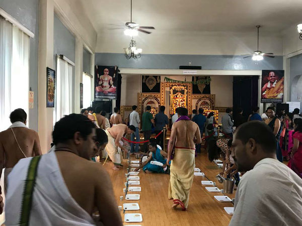 Sri Guru Raghavendra Aradhana Mahotsava is celebrated in California
