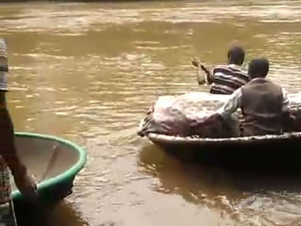 Villagers Brought Dead Body On A Raft In The Village Of Holekudige