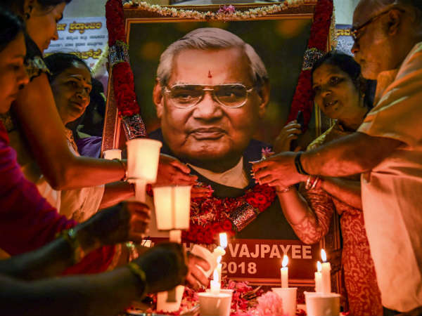 BS Yeddyurappa to bring Atal Bihari Vajpayees ashes today to Bengaluru
