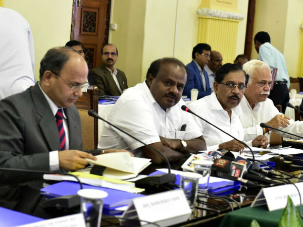 cabinet meeting held in Vidhana soudha in Kumaraswamy command