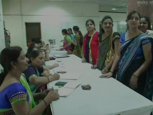 Lactating women donate milk for the infants in Surat