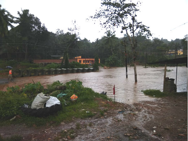 Bridges in Dakshina Kannada submerged in flood water