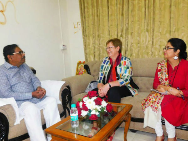Germany delegates meet DCM Parameshwar