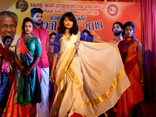 Trolled Hanan Hamid walks ramp at Kerala Khadi Mela