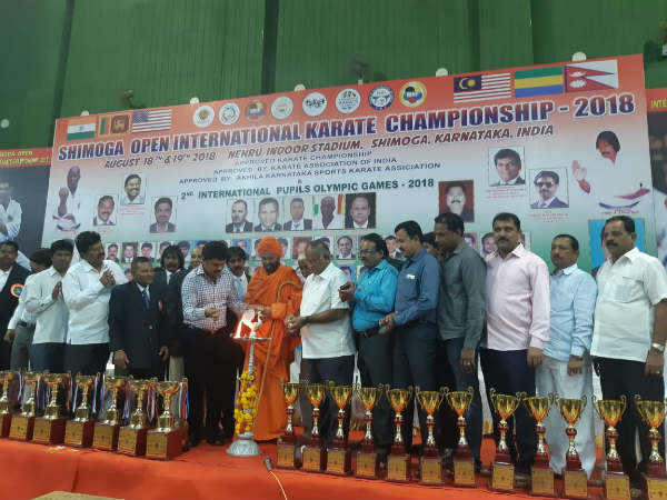 BY Raghavendra on Sunday launched the International Karate Sports