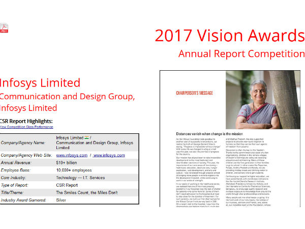 Infosys bags Silver winner at LACP vision awards