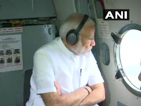 Kerala floods: PM Modi conducts an aerial survey