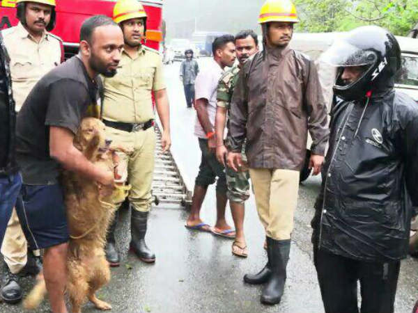 A young man walked 15 km from Madikeri and protected the dog