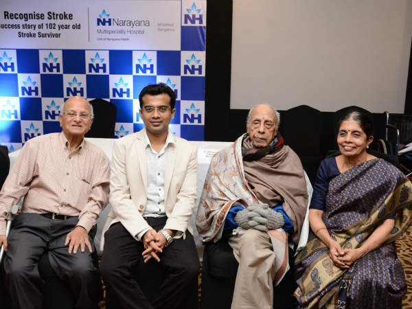 Narayana Multispeciality Hospital saves a 102 year old patient from paralysis