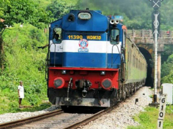 Part of a railway bridge collapses in Holenarasipura