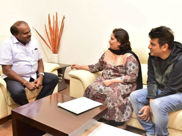 Shivarajkumar meets Chief Minister HD Kumaraswamy