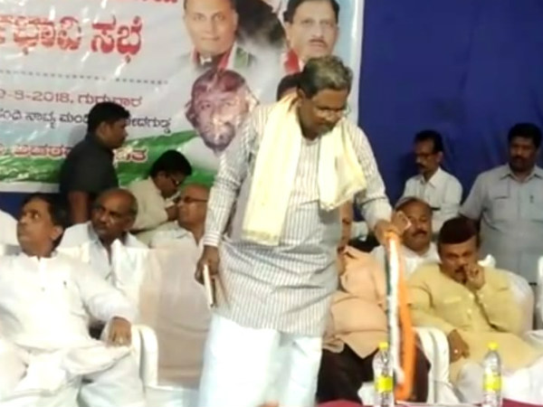 Siddaramaiah addressed the pre-poll meetings of local bodies