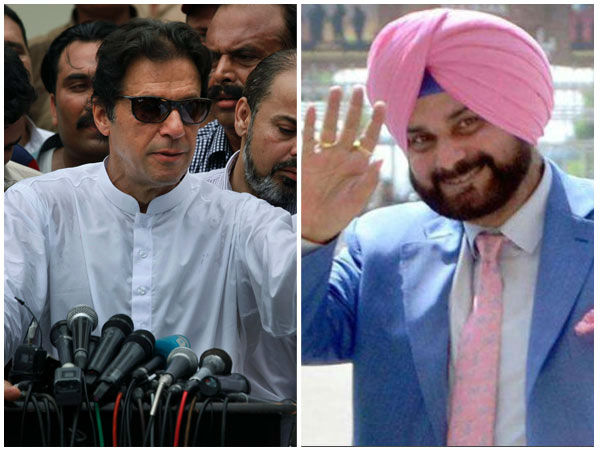 Imran Khan Oath Taking Ceremony Sidhu Hugs Pak Army Chief Sits Next To Pok President